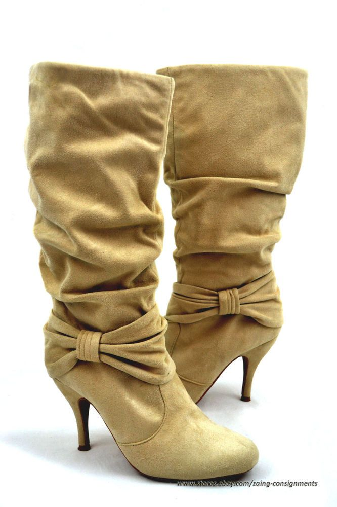 CHARLOTTE RUSSE Calf High Suede Boots size 8 #CharlotteRusse #FashionMidCalf