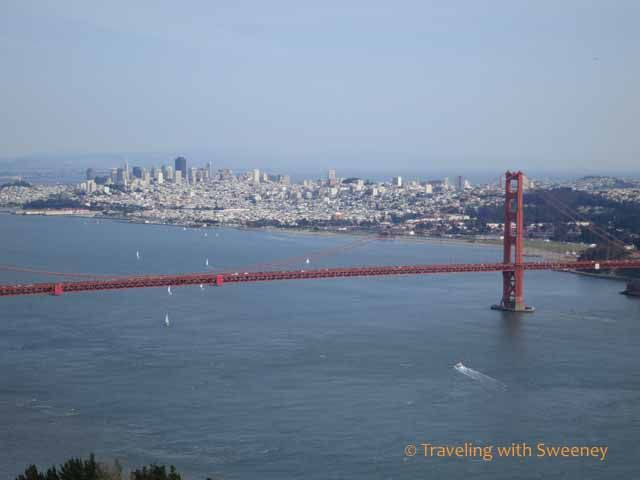 San Francisco and the Golden Gate Bridge from the Marin Headlands -- on a gorgeous day!