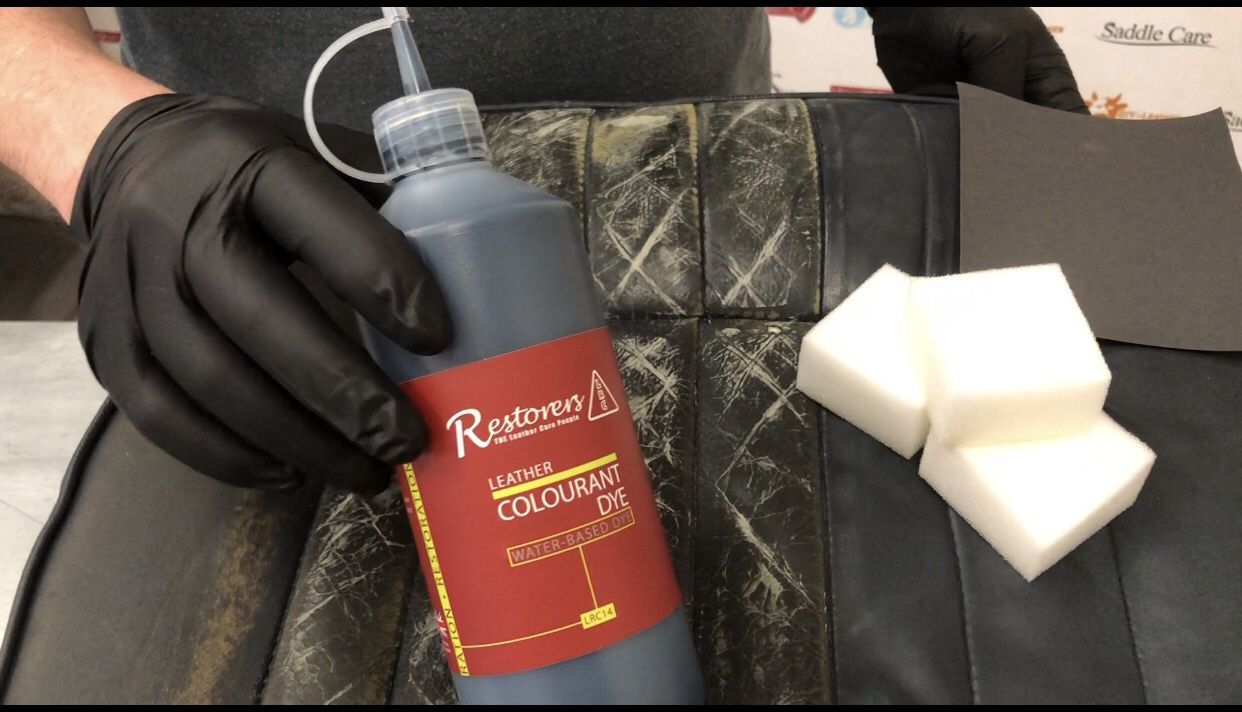 How to dye colour classic car seats