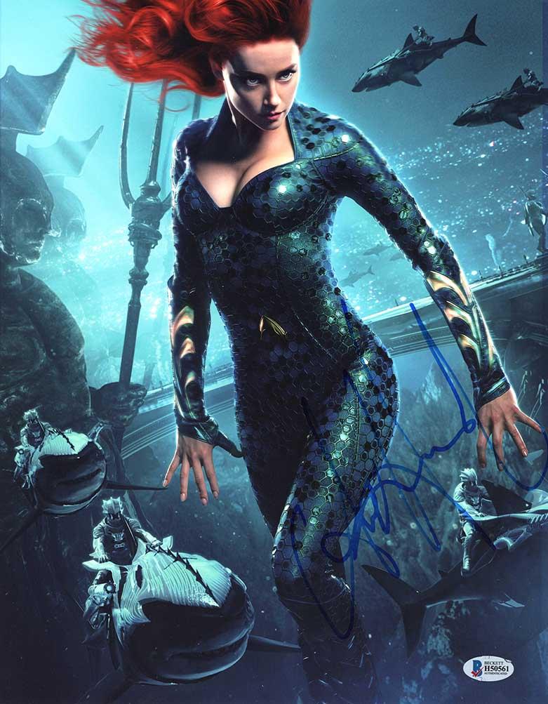 Amber Heard Aquaman Signed 11x14 Photo Certified Authentic Bas Coa In 2021 Aquaman Film New Aquaman Aquaman
