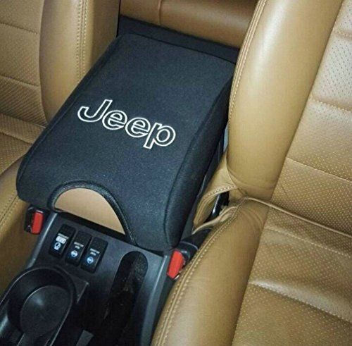 Camoo Neoprene Center Console Armrest Pad Cover With Logo For JEEP Wrangler  JK Sahara Sport Rubicon