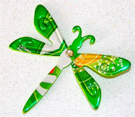 Set of TwoRecycled Soda Can ArtLayered Dragon Fly  by apmemory, $4.95