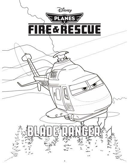 Blade Ranger from Planes Fire and Rescue Disney Coloring Picture ...