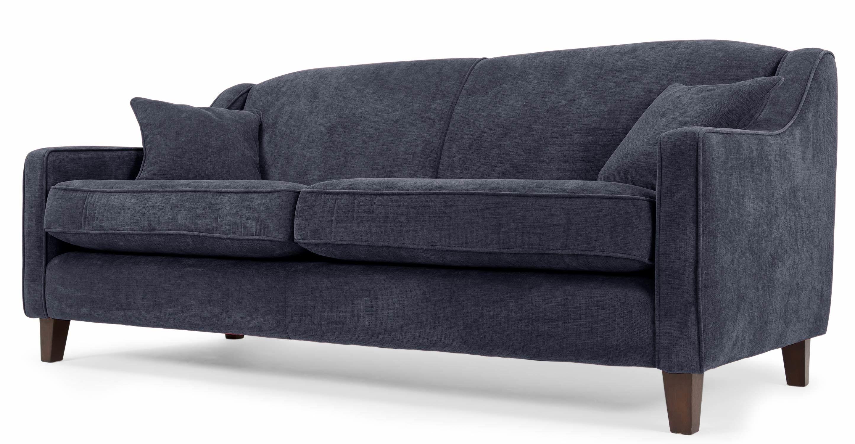 Halston Canapé Places Bleu De Minuit Idées Pour La Maison - Canapé 3 places pour idee de deco pour salon