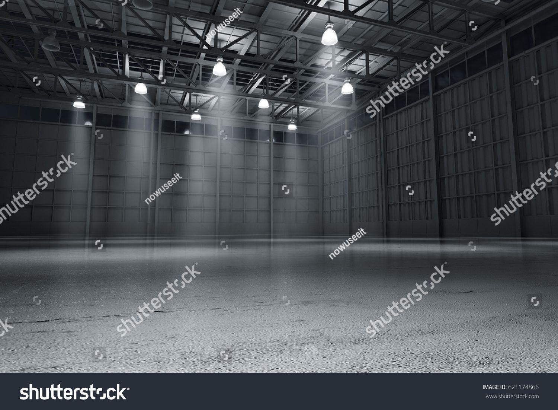 Astonishing Warehouse Empty Dark Car Showroom 3D Rendering Ibis Poster Download Free Architecture Designs Scobabritishbridgeorg