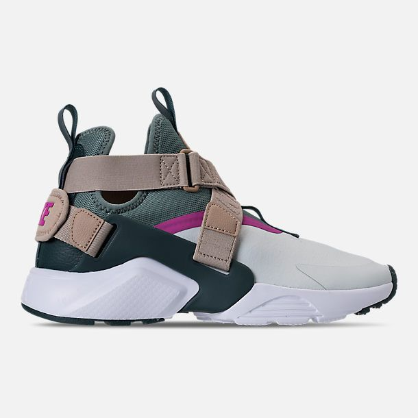 finest selection e13f2 79adb Right view of Women s Nike Air Huarache City Casual Shoes in Barley Grey Clay  Green Fuchsia Blast