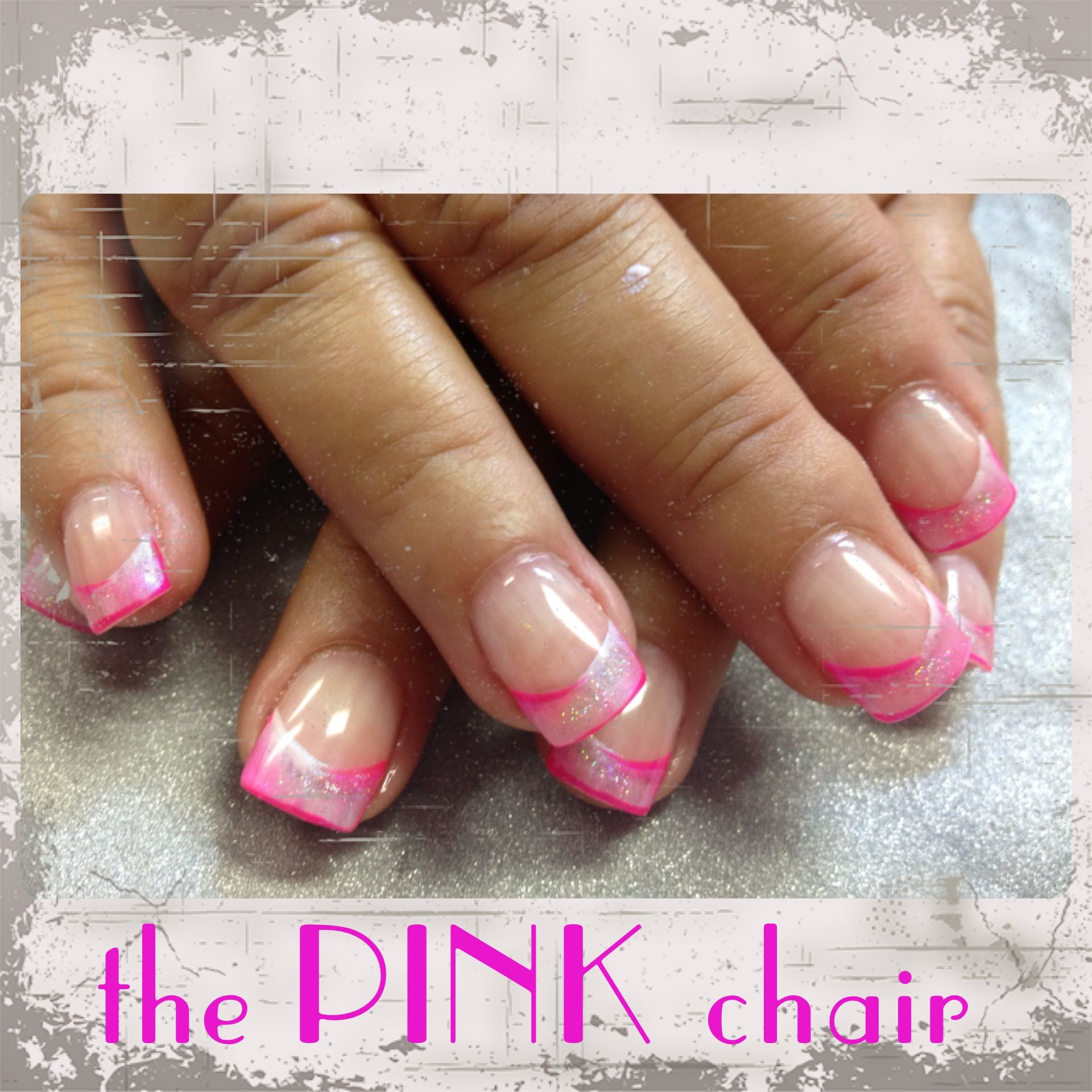 Cute little pink and white blended French created with Young Nails Synergy Gels
