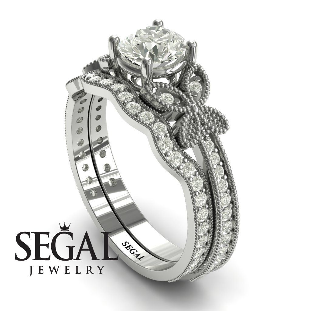 The Butterfly Stairs Bridal Set Diamond Ring Amelia no. 3