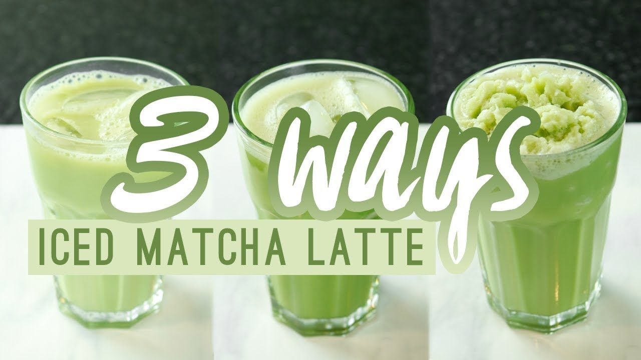 HOW TO MAKE AN ICED MATCHA LATTE AND FRAPPUCCINO AT HOME