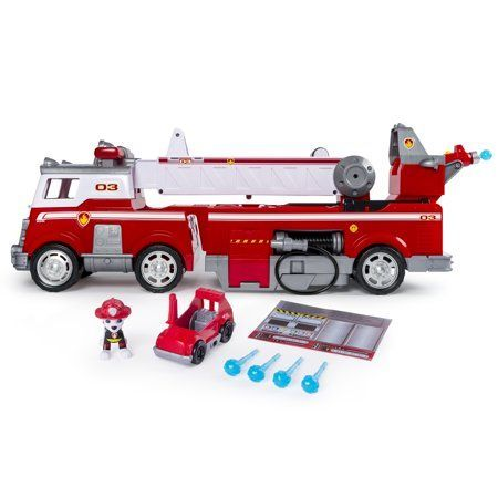 PAW Patrol Ultimate Rescue Fire Truck with Extendable 2 ft Tall Ladder for Ages 3 and Up