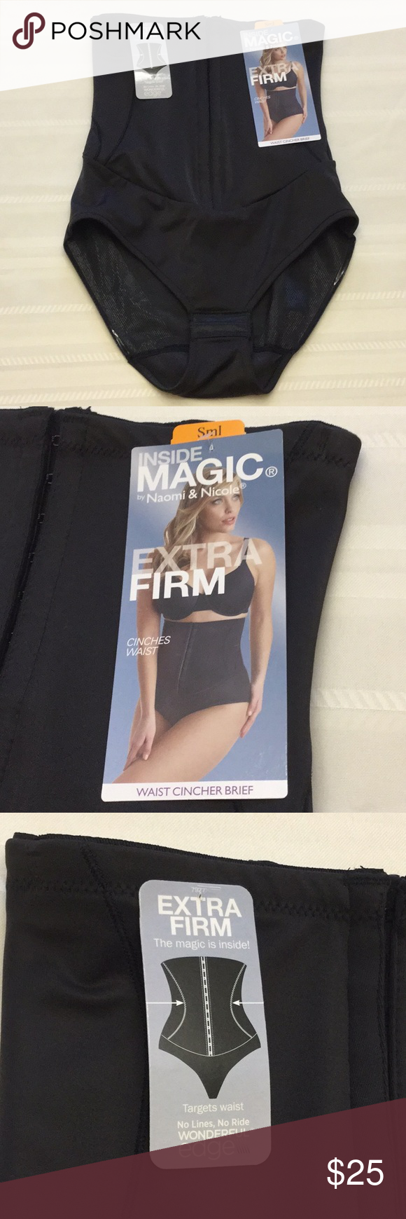 21e86ec2a34 Inside Magic Extra Firm Waist Cincher Brief Black Inside Magic by Naomi   Nicole  Extra Firm