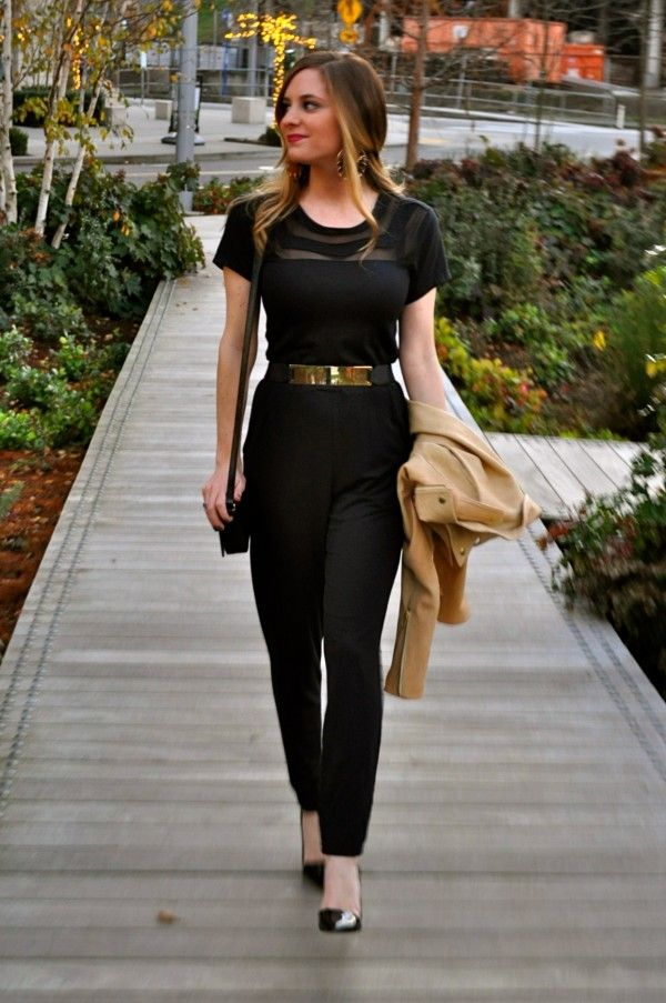 Black Jumpsuit Outfit Photo Album - Reikian