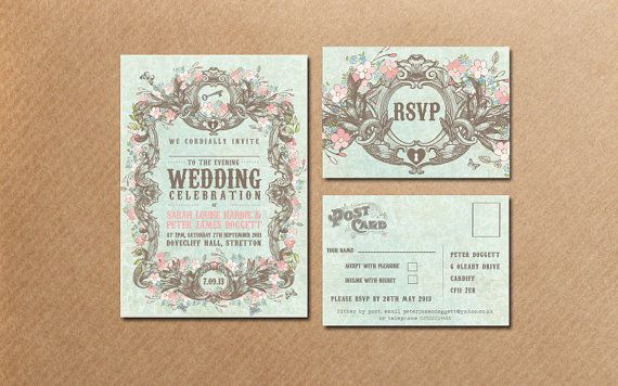 Secret Garden Wedding Invitation Sample By Somethingkindacutee
