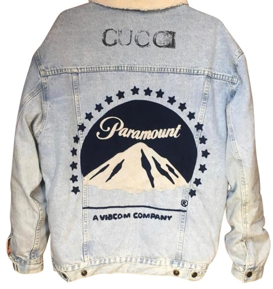Gucci Blue X Paramount Jacket Size 12 L Free T Shirt Design Jackets Gucci Denim [ 960 x 906 Pixel ]
