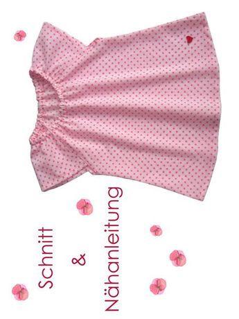 Schnitt und Anleitung Carmen-Bluse für Mädchen Größe 68-140 - Lunicum
