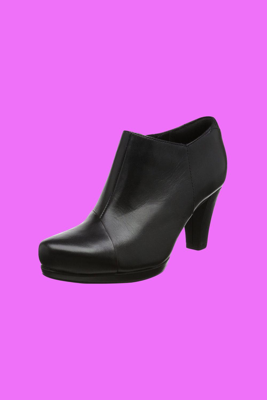 Clarks Damen Chorus Jingle Stiefel in Schwarz aus Leder. Mit