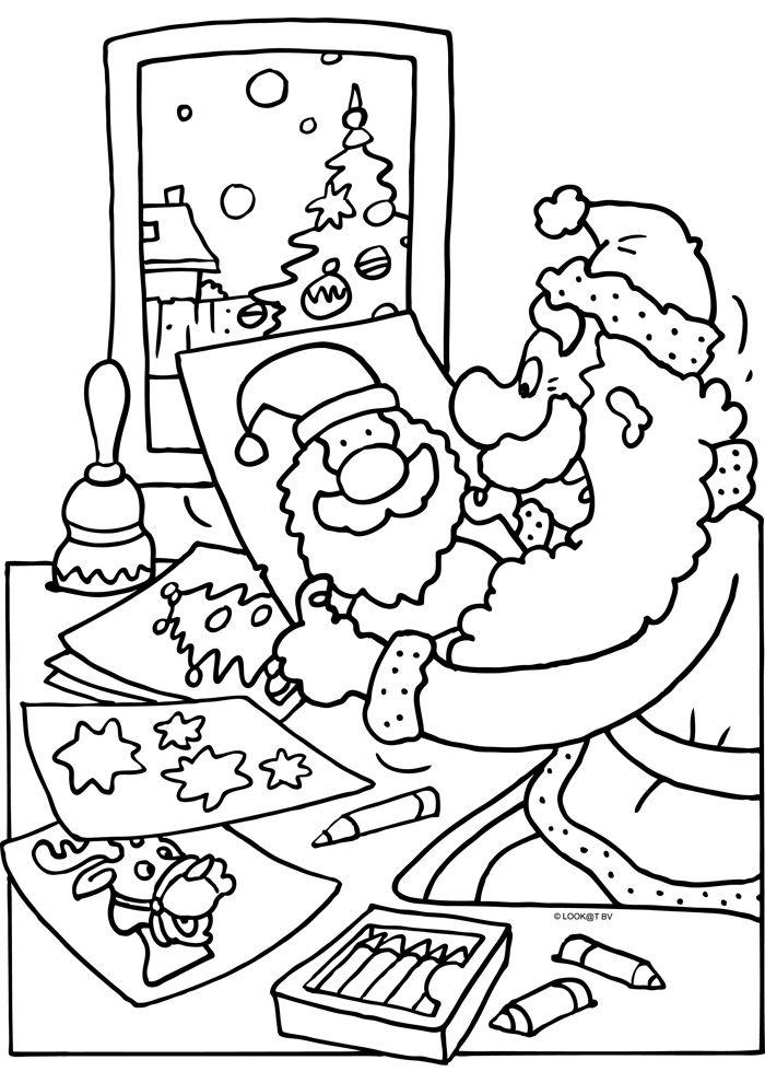 Kerst Kleurplaten Kerstman.Kerst Kleurplaten Kerstman Google Search Hdt Malen