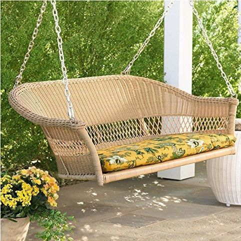 Wicker Swings Porch Canopy And Swing Chairs Are Wonderful On An Outdoor Patio