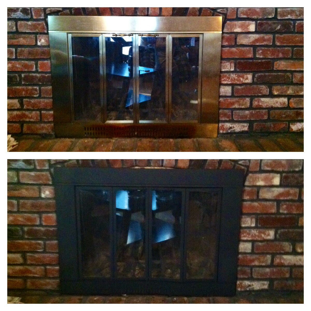 Get Rid Of The Ugly Brass Fireplace High Heat Spray Paint