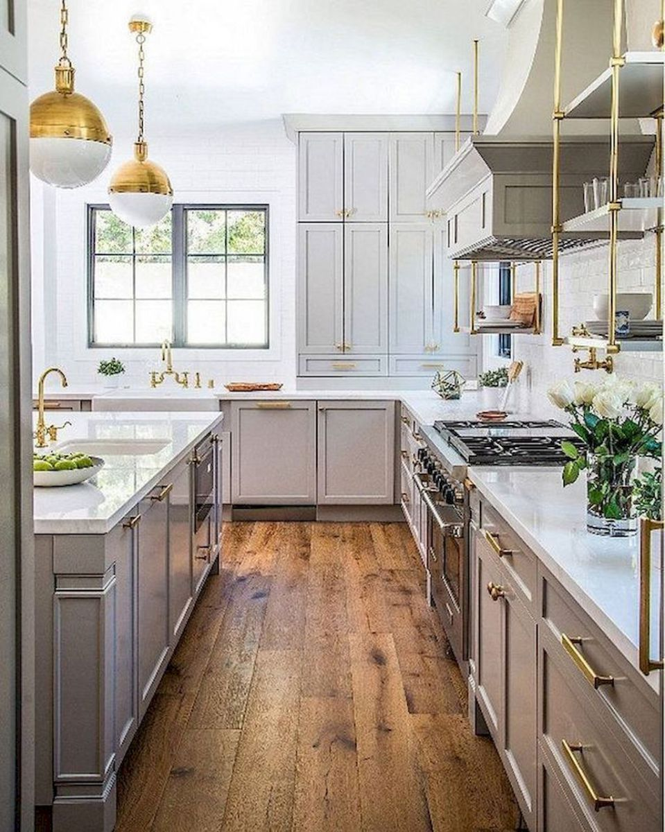 Best Rustic Farmhouse Gray Kitchen Cabinets Ideas 31 400 x 300
