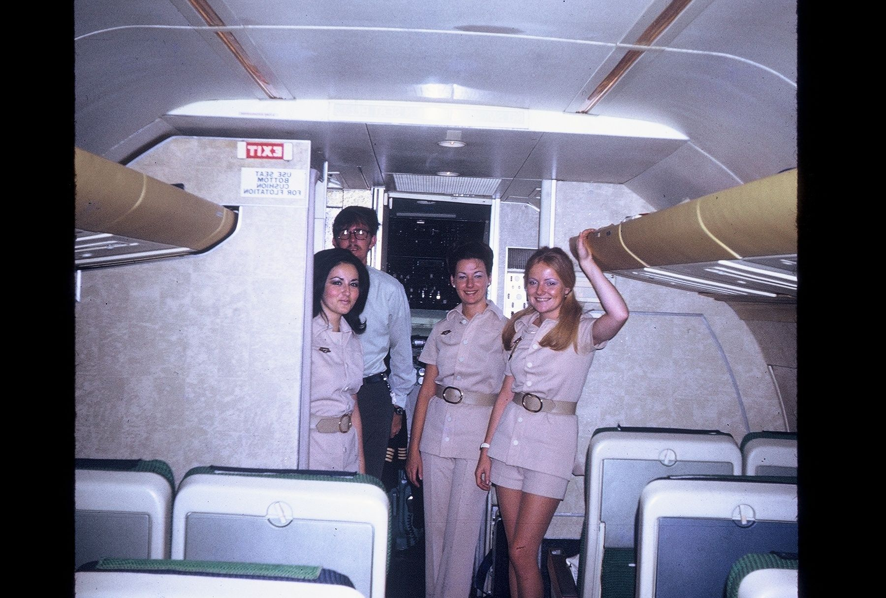 EAL's version of ''Hotpants'' Airline interiors, Vintage