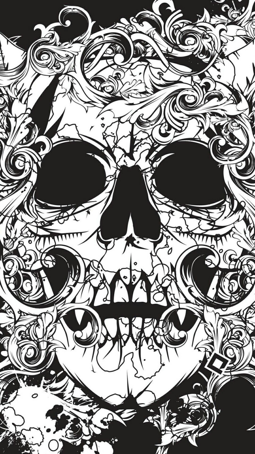Feminine Sugar Skull Wallpaper Iphone In 2020 Skull Wallpaper Iphone Sugar Skull Wallpaper Skull Wallpaper
