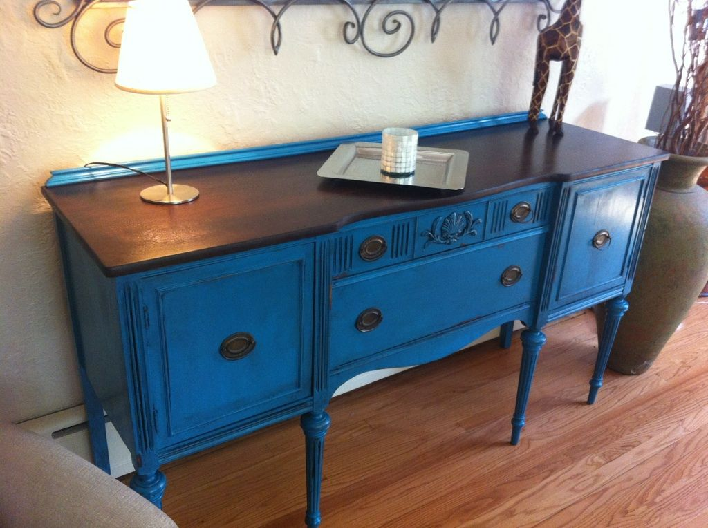 distressed blue furniture. Blue Buffet | Buffet, Distressed Sideboard, Teal Furniture A