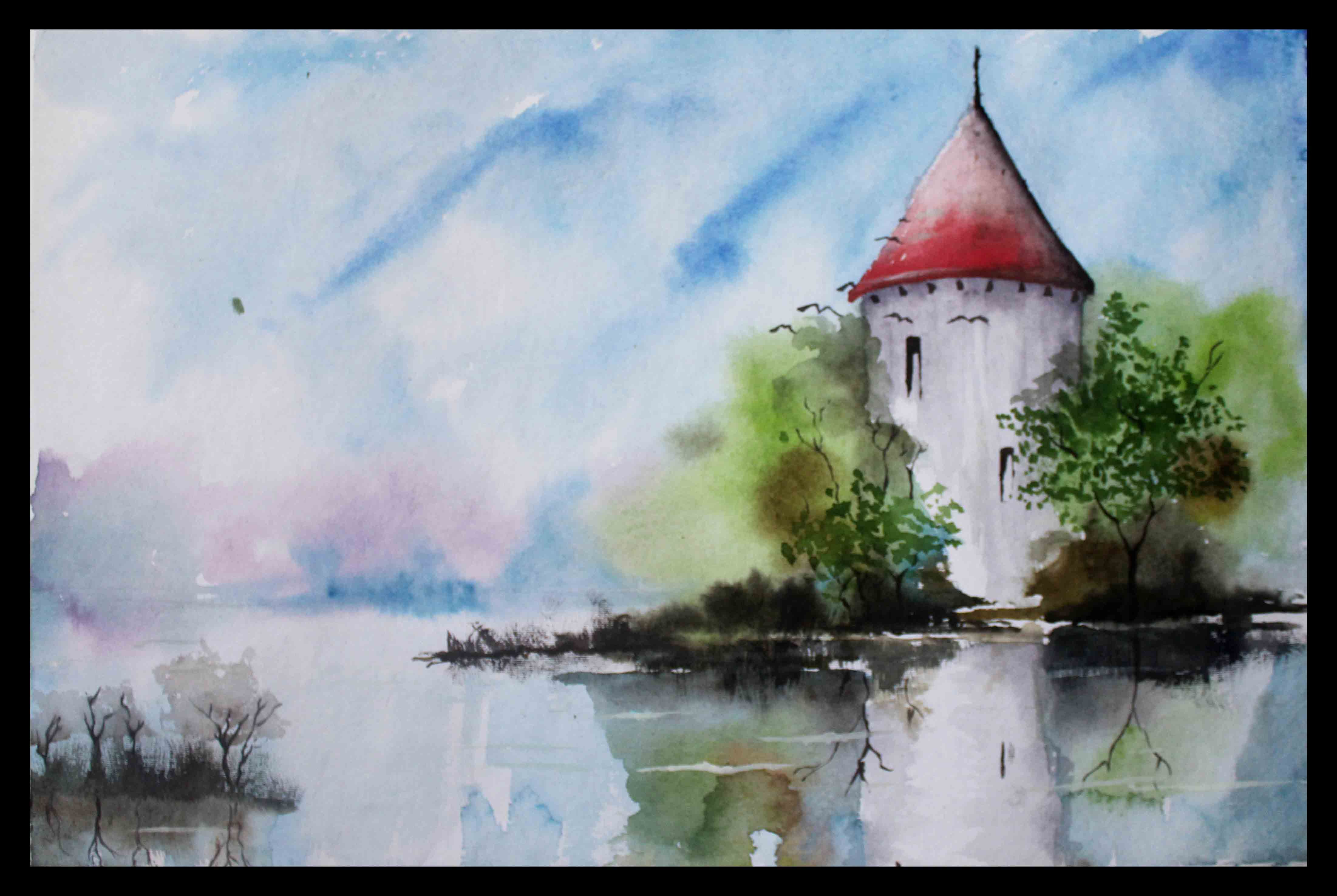 Easy Landscape Watercolor Paintings Watercolor Painting