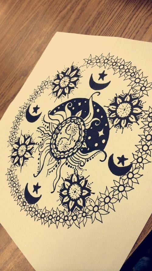 Mandalas Tumblr Preto E Branco Pesquisa Google Hippister Pinterest Tattoo Drawings And