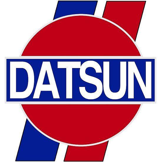 'Datsun Logo, Old School' Sticker By CharJens