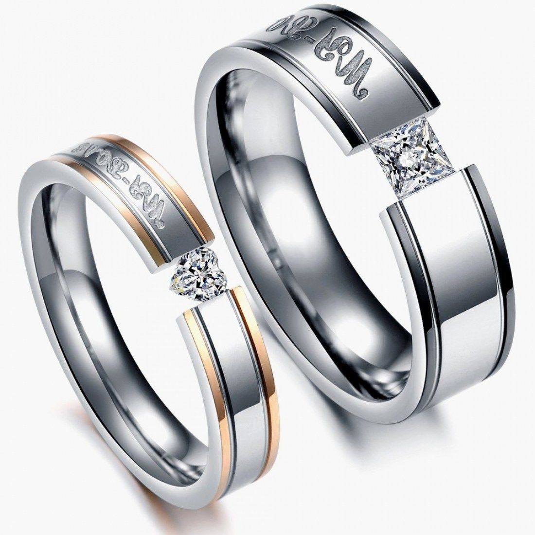 39 Stunning Unique His And Hers Wedding Rings