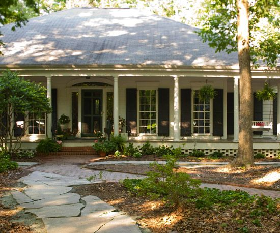 I just love these huge front and/or back porches and the windows enhance the look.