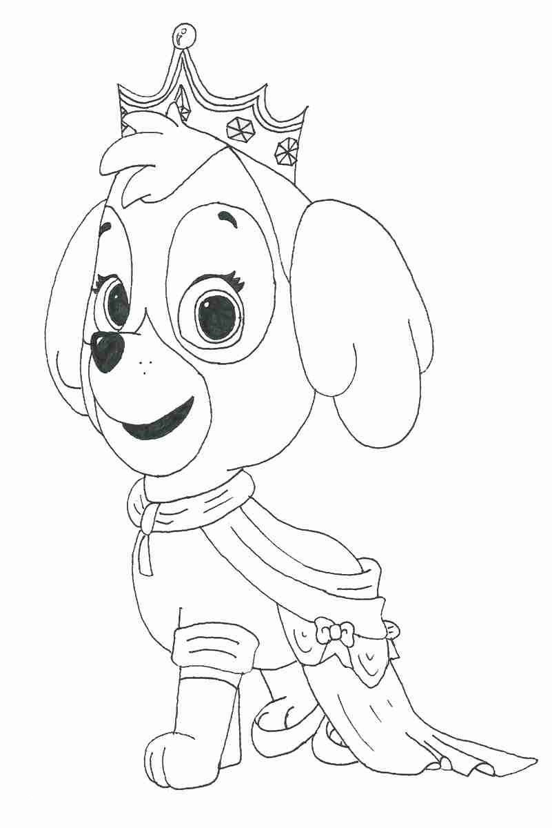 Skye Princess Coloring Pages Paw Patrol Coloring Pages Paw
