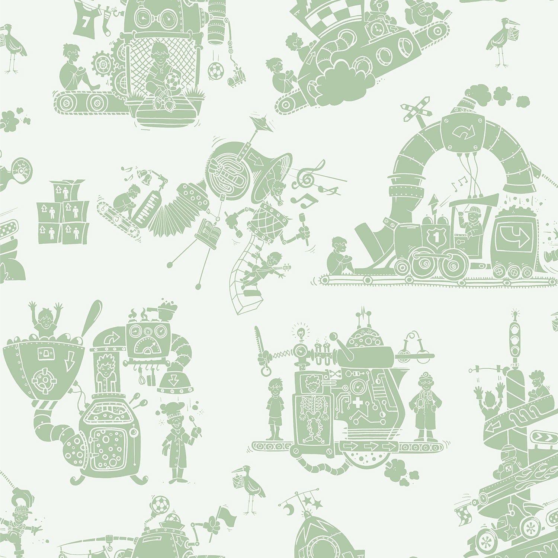 Machines Wallpaper for Children | Doctor| PaperBoy Wallpaper for Children