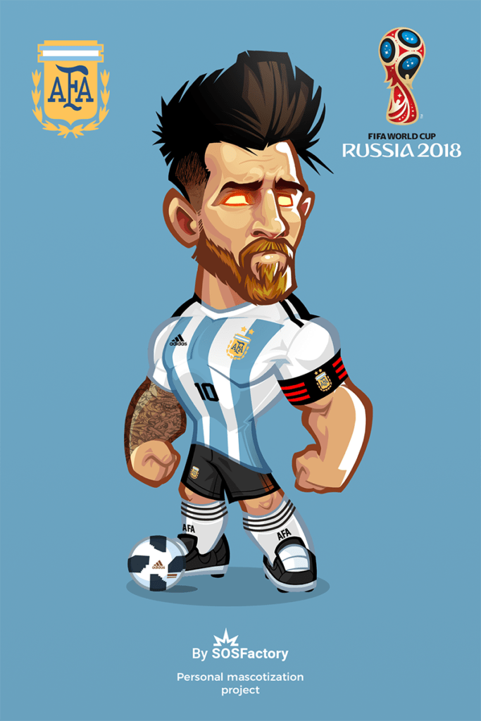 300 Mascot Designs Challenge Futebol Arte Futebol Messi
