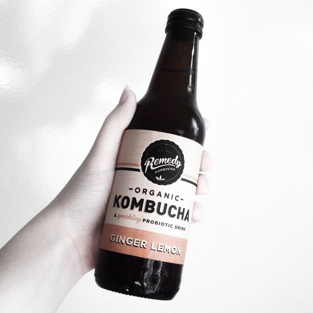 Loving this sunny Melbourne afternoon and this organic lemon & ginger kombucha by @remedykombucha is just the drink for it. #vegan   @ ecovireo on Instagram