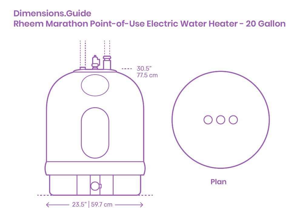 Rheem Marathon Point Of Use Electric Water Heater 20 Gallon In 2020 Electric Water Heater Water Heater Gallon