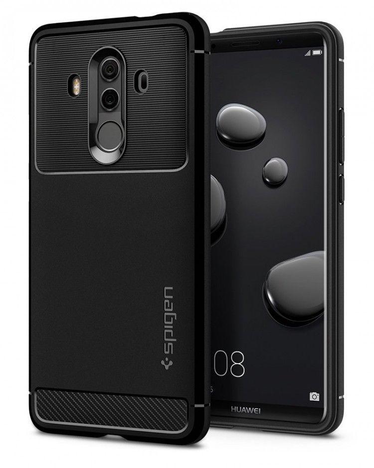 best quality 65a3d eada1 Huawei Mate 10 Pro Case Rugged Armor Cover Flexible Carbon Fiber ...