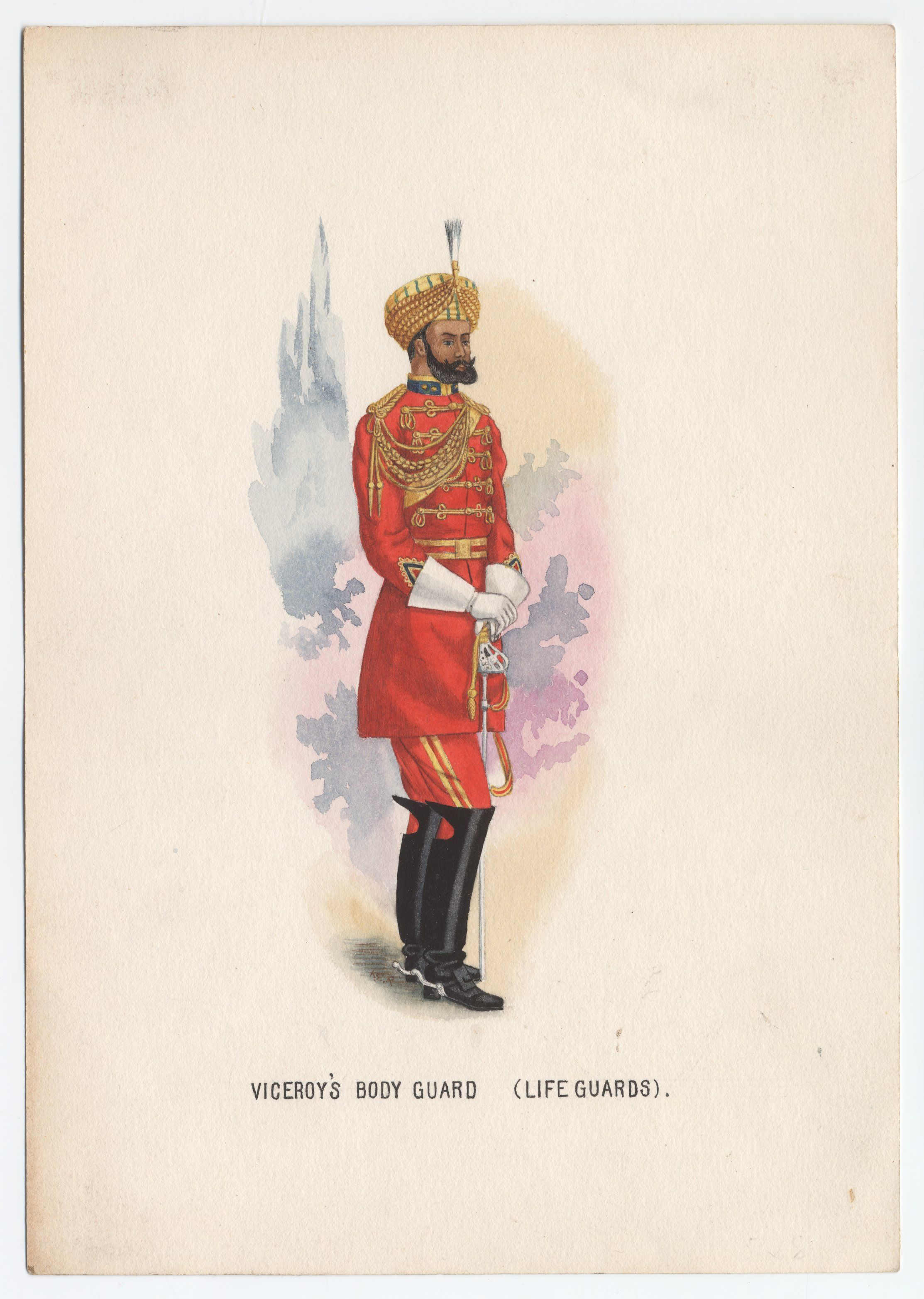 British; Viceroy's Bodyguard (Life Guards) c.1910 by K.E Rose
