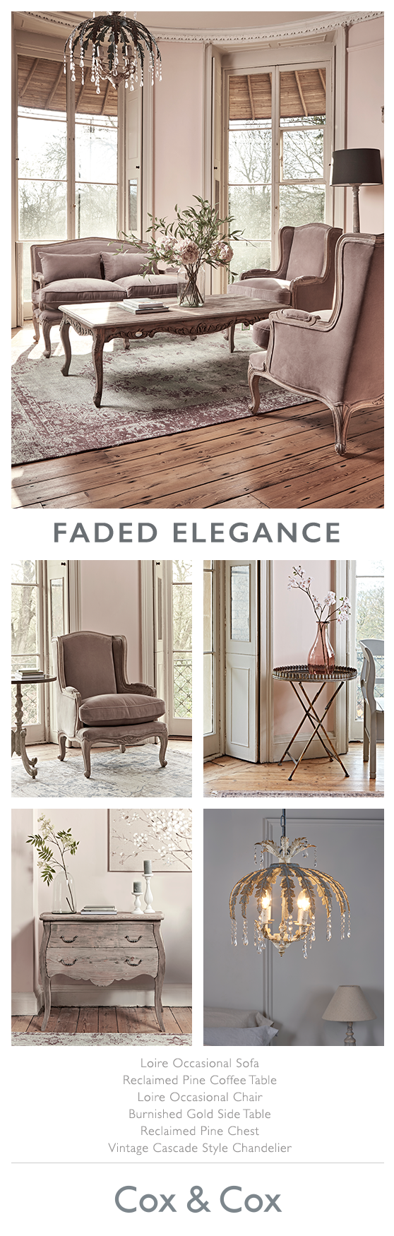Faded elegance for the home pinterest living rooms room and