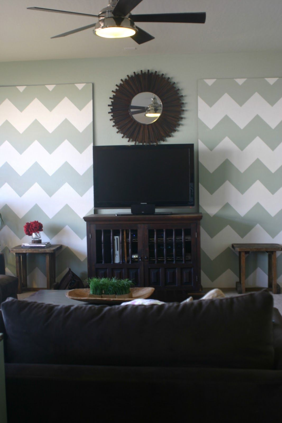 Chevron wall accent panels   because i like to decorate…