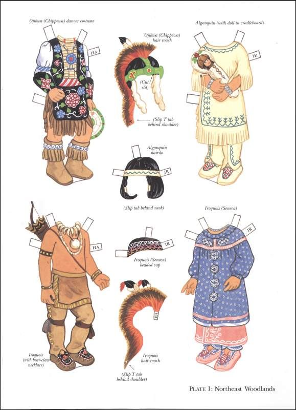 North American Indian Boy And Girl Paper Dolls. What A Wonderful
