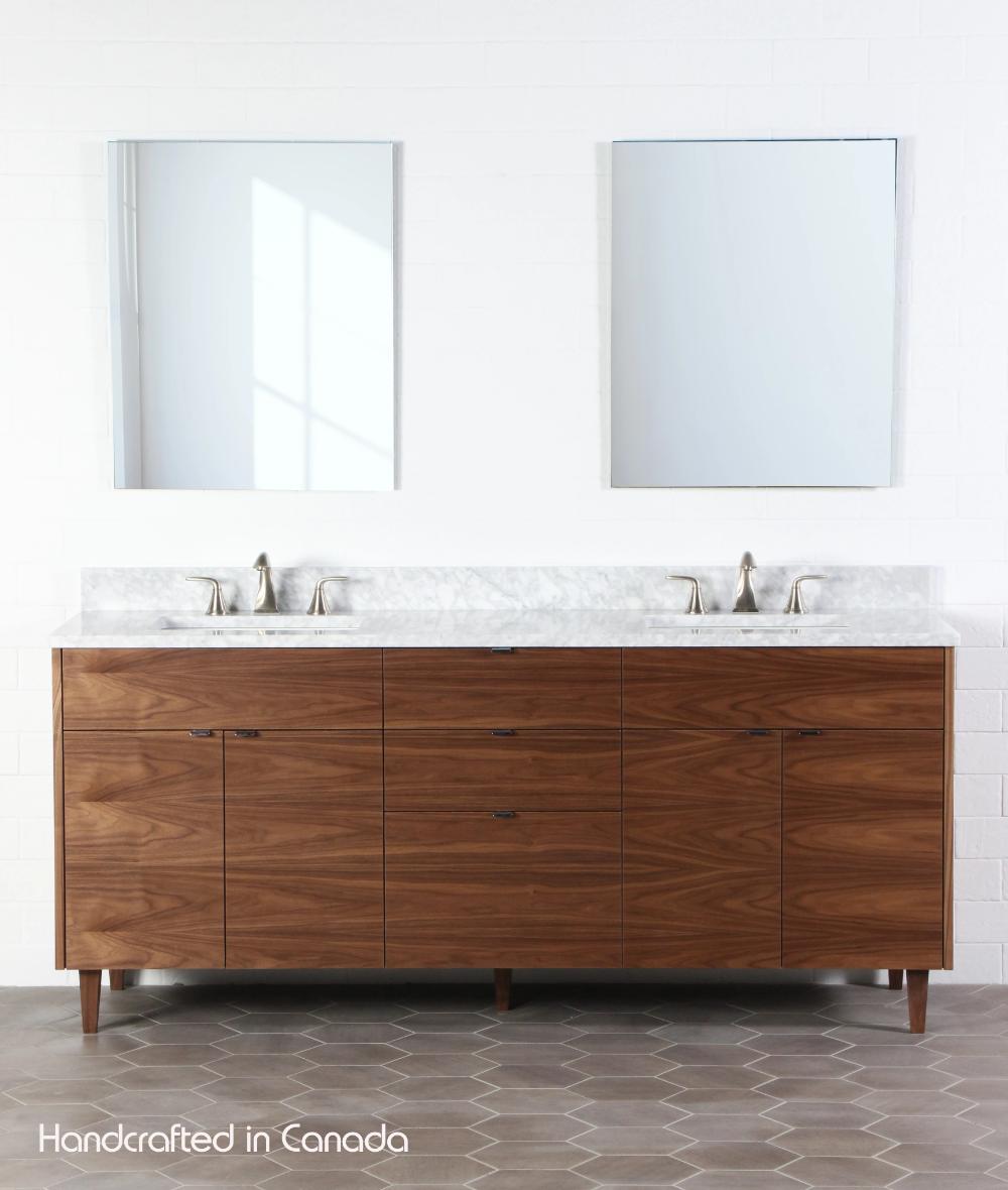 Austin 72 Teodor Modern American Black Walnut Vanity Double Sink Wood Bathroom Vanity Modern Bathroom Vanity American Black Walnut [ 1180 x 1000 Pixel ]