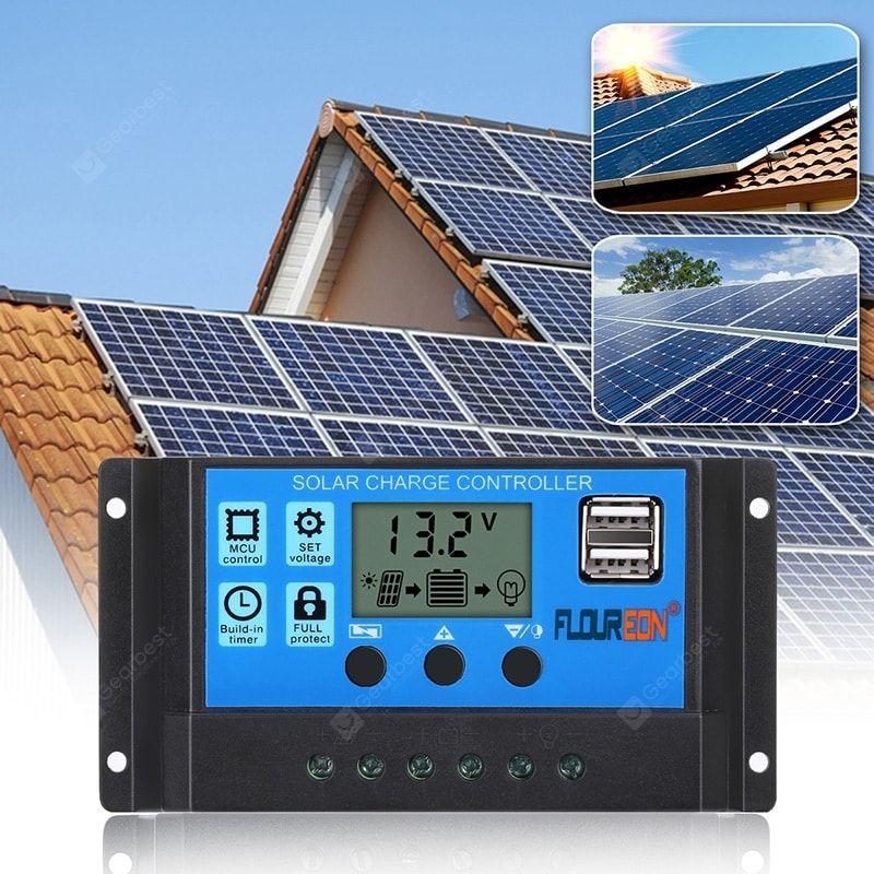 Buy Floureon Solar Charge Controller 10a Solar Panel Battery Intelligent Regulator Sale Ends Soon Be In Solar Panel Battery Solar Charger Solar Panel Charger