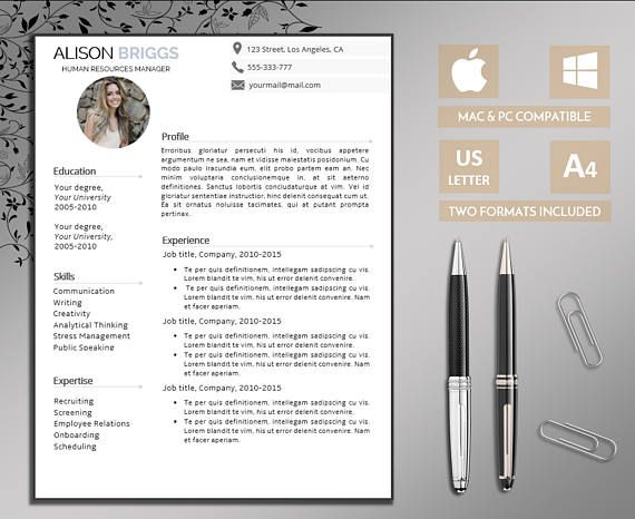 Professional Resume Template Resume Template Word CV Template +