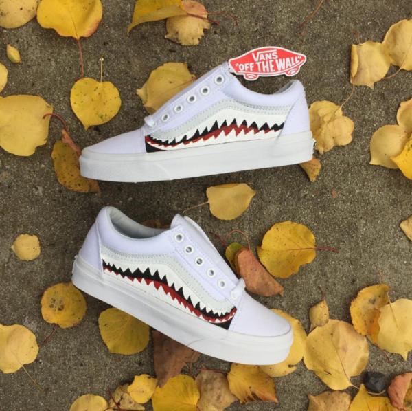 Vans Custom 'Shark Teeth' Old Schools