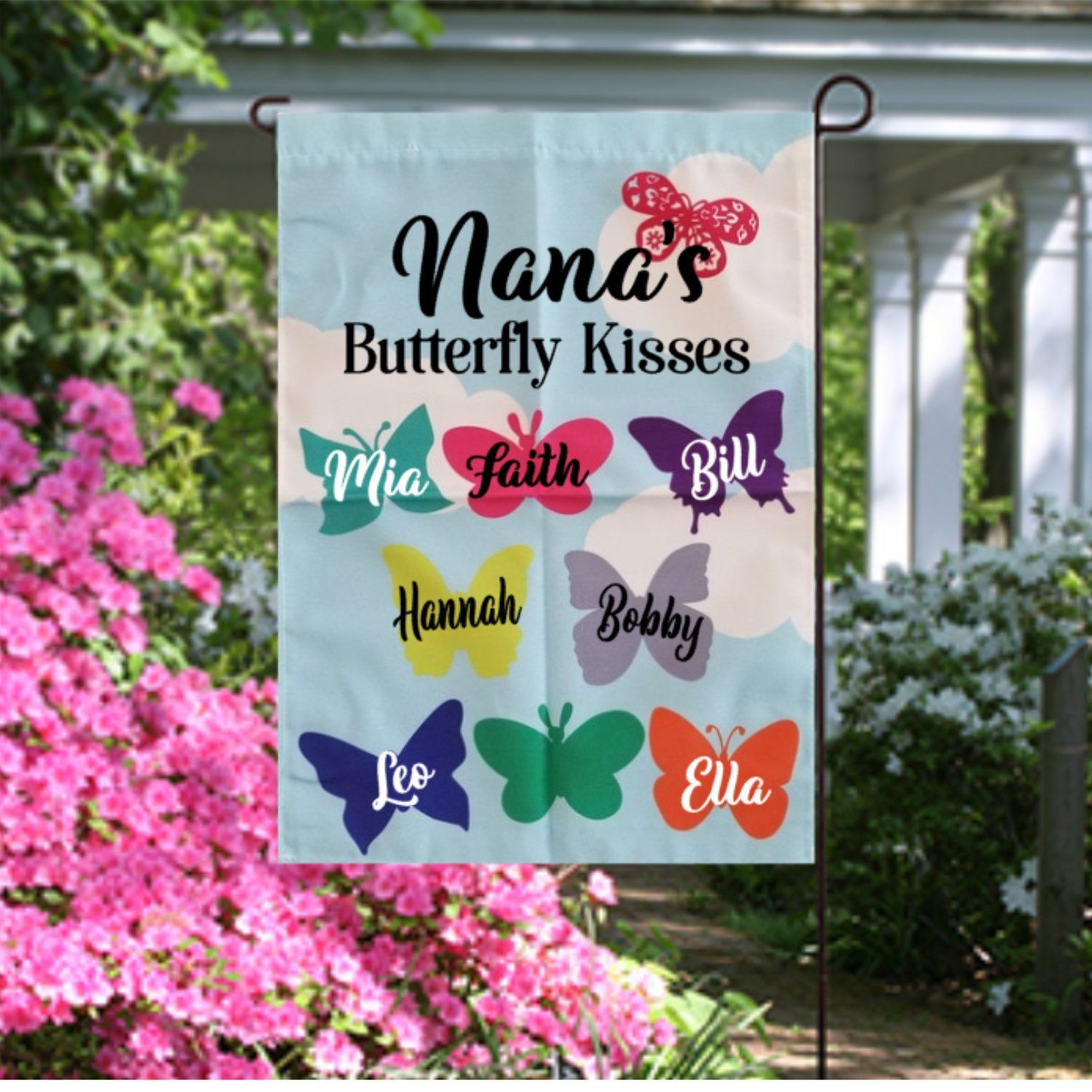 Personalized Flag Garden Flag Welcome Flag Yard Flag Small Etsy Garden Flag Stand Personalized Flag Yard Flags