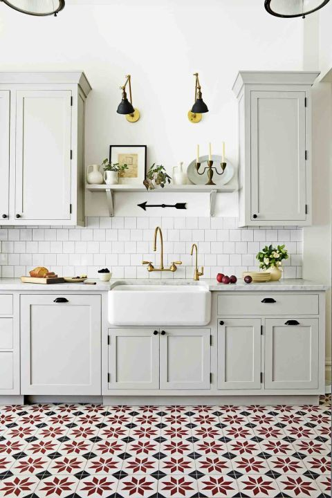 24 Ideas For Decorating A Kitchen With White | Kitchens, Patterns