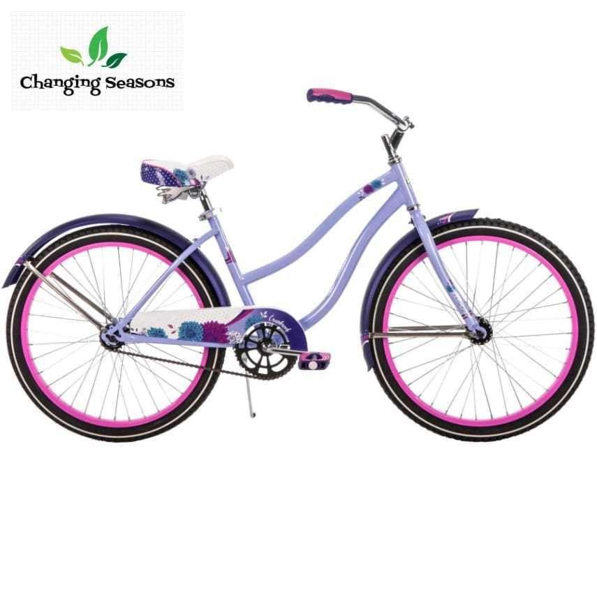 Girl S 24 Inch Cruiser Bike Beach Bicycle Coaster Brake 1 Speed Steel Frame Huffy Cruiser Bike Huffy Bike