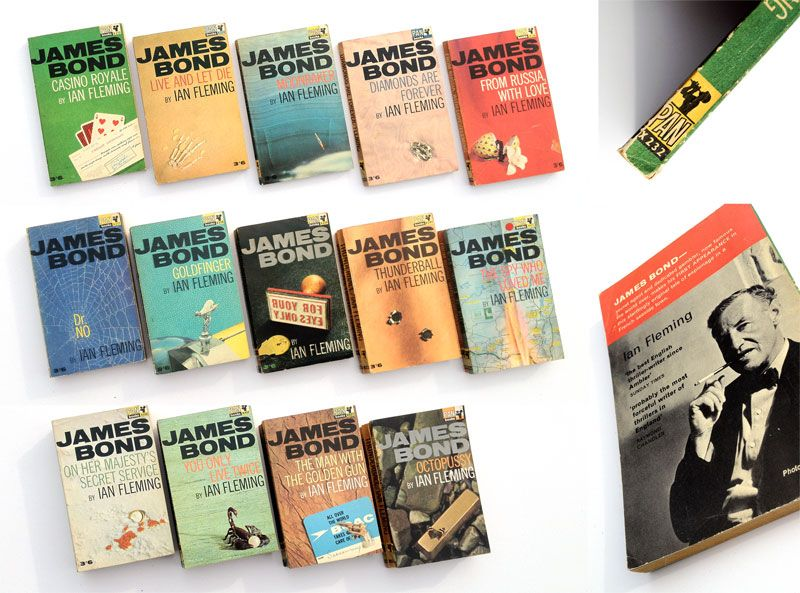 James bond paperback books ian fleming kingsley amis